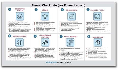 Superhelden Funnel System - Funnel Checkliste